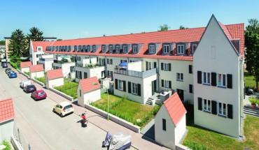Aus der typischen 20er-Jahre-Siedlung in Frankfurt Riederwald wird ein schickes, modernes Stadtquartier. Bilder: Fermacell