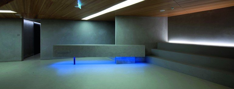 Betonboden im Foyer des Konzerthauses Blaibach. Bild: HeidelbergCement/Steffen Fuchs