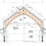Detailschnitt A-A Hauptbinder. Zeichnung: MRLV Architekten/WTM Engineers
