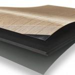 Explosionsansicht einer mehrlagigen Diele mit Holzoptik. Bild: Egger Retail Products