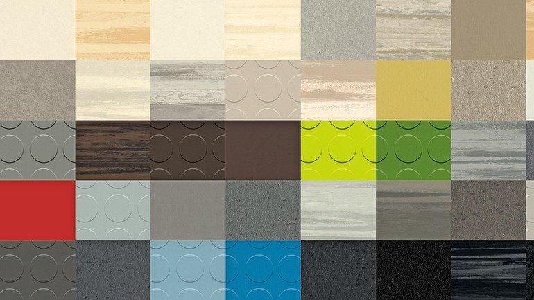 Kautschukbeläge: Außergewöhnliche Dekore und mehr Farben