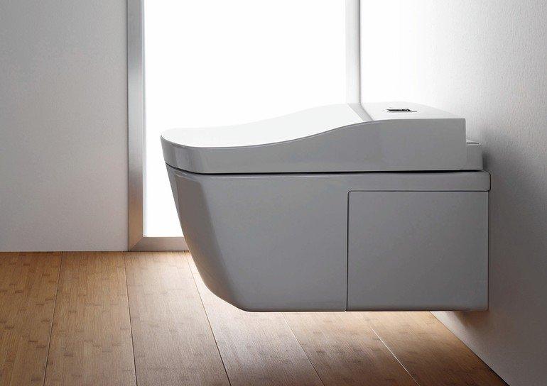 Dusch-WC: Komfortabel und hygienisch. Bild: Toto