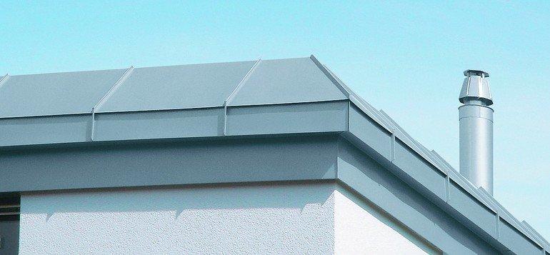 Dachverkleidung aus Zink. Bild: Rheinzink