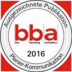 Auszeichnung für die bba