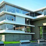 Mehrstöckiges Gebäude mit großen Glasflächen. Bild: Schueco
