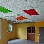 Holzwolle-Leichtbauplatten: Die Nachhallzeiten konnten um mehr als zwei Sekunden gesenkt werden. Bild: Fibrolith Dämmstoffe