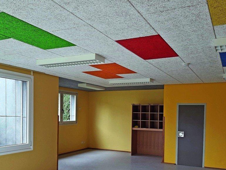 Holzwolle-Leichtbauplatten: Die Nachhallzeiten konnten um mehr als zwei Sekunden gesenkt werden.