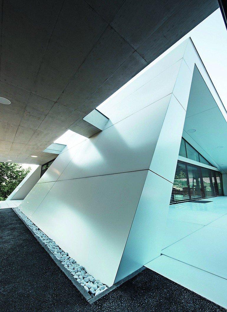 neubau eines einfamilienhauses in bad tatzmannsdorf homogen mit dynamik. Black Bedroom Furniture Sets. Home Design Ideas