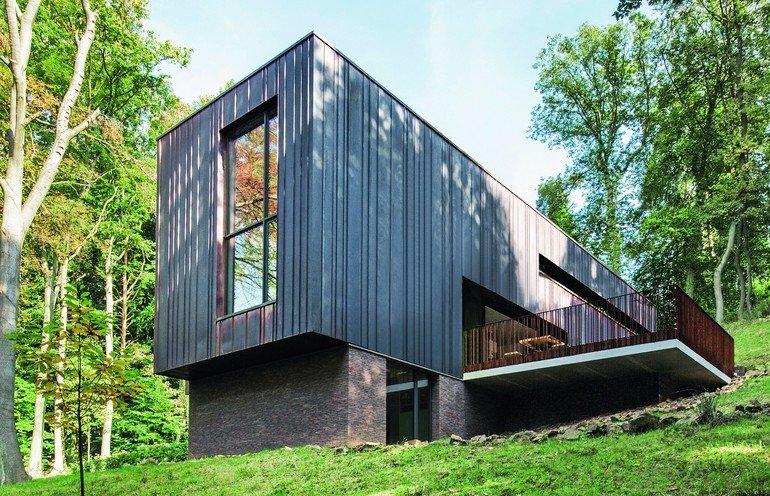 Lichtbringer für Neubau eines Wohnhauses in Grondal, Tilff, Belgien. Bild: Schüco International KG