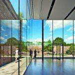 Hoher Raum mit stockwerkstiefen Glaswänden. Bild: Thiele Glas, Fotograf Michael Moran/OTTO