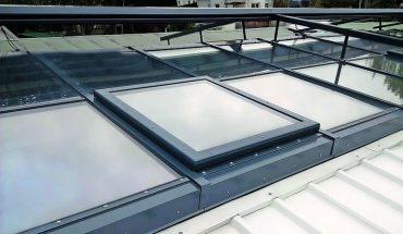 Größter, verglaster Dachflügel