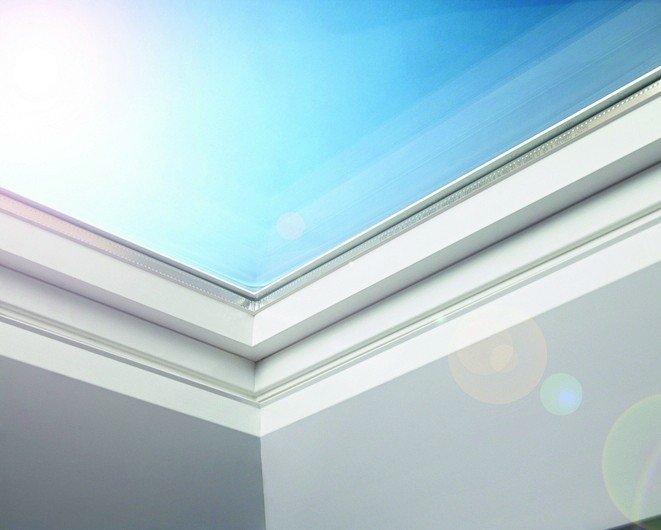 Flachdachfenster und Lichtkuppel in einem