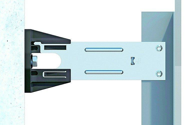 Wandbefestigung im Detail. Bild: BWM Dübel + Montagetechnik