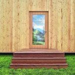 Balkonbelag: Thermodiele aus Kiefer - formstabil und bewitterbar - auch als Terrassenbelag. Bild: Egger Holzwerkstoffe