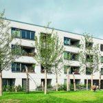 Wohnanlage mit Lochfassade, Blick vom Innenhof. Bilder: Deutsche Poroton / Gerhard Zwickert