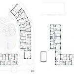 Realisiert wurden 73 Ein- bis Vierzimmerwohnungen; 31 sind barrierefrei. Zudem gibt es eine Senioren-WG, ein Café sowie leicht zugängliche Abstellräume für Kinderwagen oder Rollstühle. Eine Tiefgarage sorgt für entsprechenden Parkraum. Bild: Bruno Fioretti Marquez