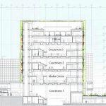 Schnitt Gerichtsturm. Zeichnung: Schmidt Hammer Lassen Architects