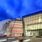 Structural glazing in Aluminium-Rahmenkonstruktion für das ICE Kongresszentrum in Krakau. Bilder: Alurpof