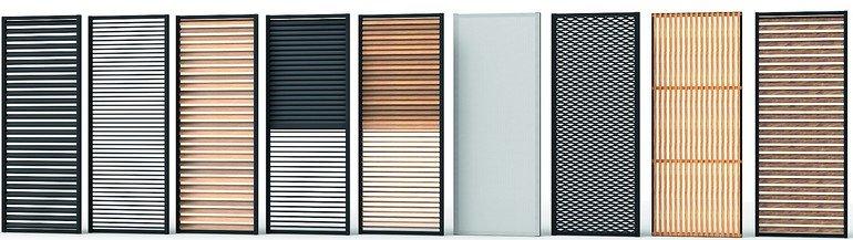 Großflächige Fensterläden in unterschiedlichen Material- und Designausführungen. Bild: Renson