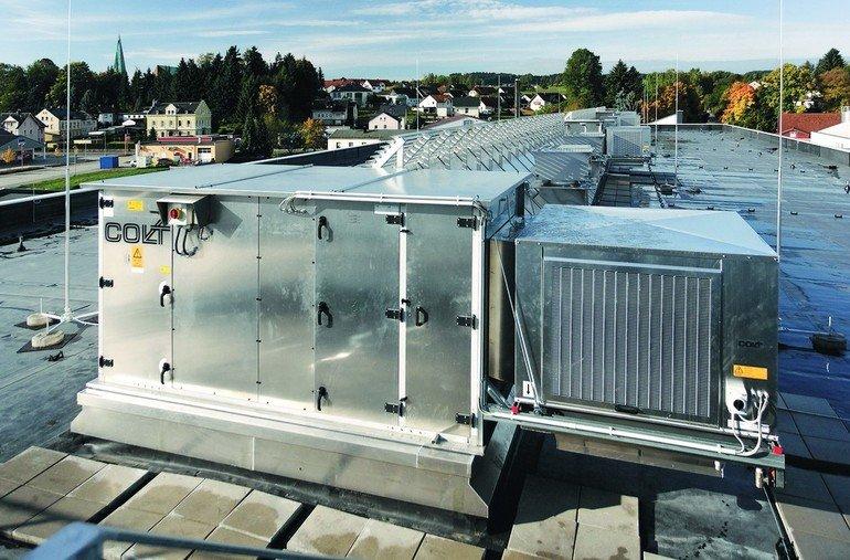 Lüftungssystem auf Flachdach. Bild: Colt International