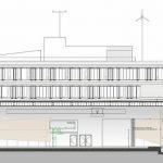 Schnitt WindLab. Zeichnung: hammeskrause architekten