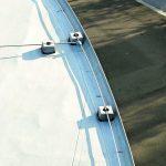 Runder Flachdachabschluss mit Dachrandprofil und Blitzschutz