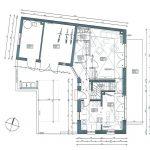 Grundriss Erdgeschoss. Zeichnung:Architekturbüro Hetfleisch & Leppert, München