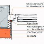 Die Fensterlaibung wurde wärmebrückenfrei und fachgerecht durch Anbringung einer Rahmendämmung mittels Wärmedämmputz ausgeführt. Zeichnung: Schlagmann Poroton