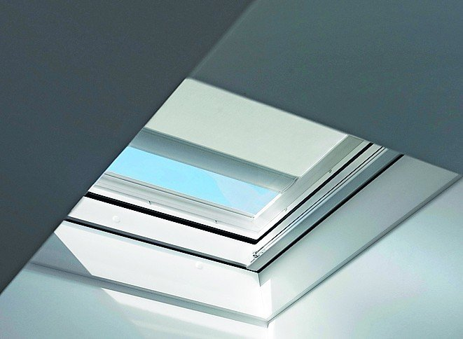 Flachdachfenster Mit Eingebauter Markise