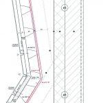 Fassadendetail mit Alucobond. Zeichnung: Architektenbureau van den Heuvel