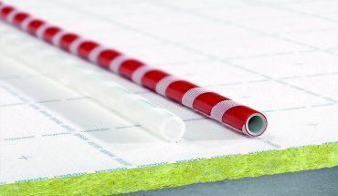 Fußbodenheizung mit erhöhtem trittschallschutz.