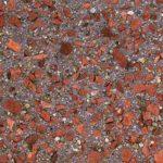 """Fassadenmuster in Anlehnung an das """"Nidenser Rot"""": Dem Waschbeton wurden braune und schwarze Farbpigmente sowie Einstreuungen beigemischt. Bild: IZB/Christoph Kraneburg"""