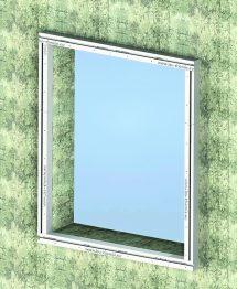 Vorwandmontagesystem für große Fensterelemente. Bild: Iso-Chemie