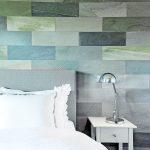 Schieferplatten als Wandverkleidung: Auch im Schlafzimmer eine Option. Bild: Ratscheck Schiefer