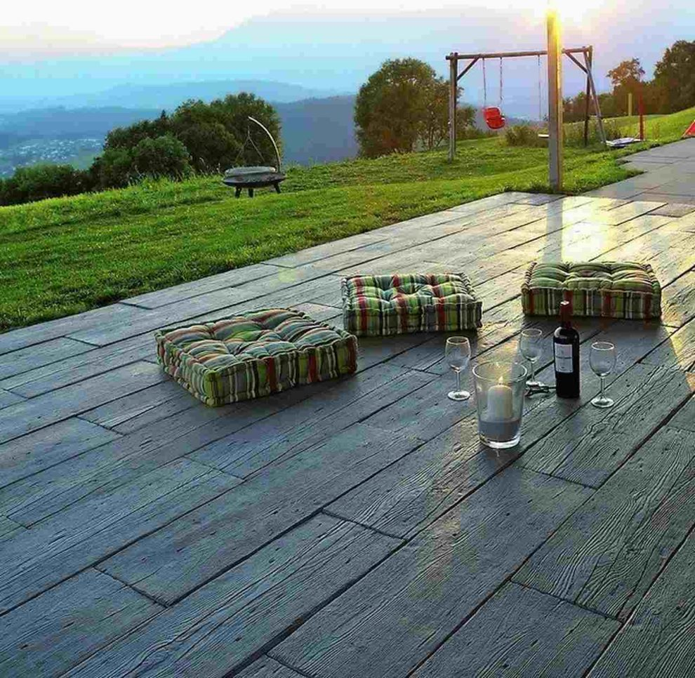 Terrasse mit Ausblick. Bild: F. C. Nüdling
