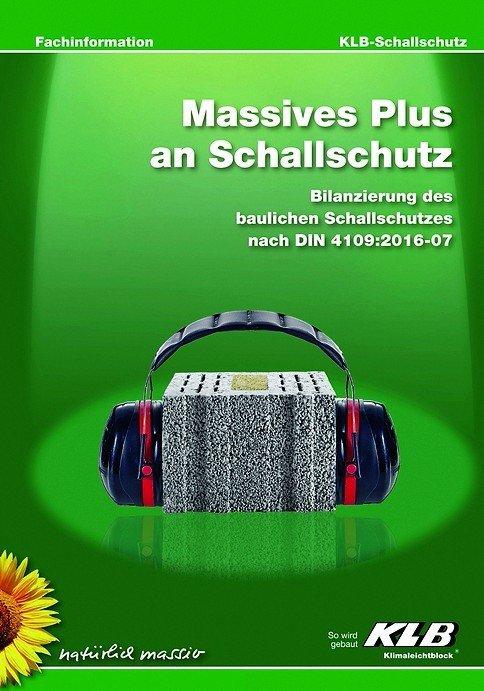 KLB-Broschüre zum Schallschutz.
