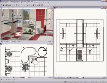 Über die Schnittstelle des Innova 3D-Planers lassen sich Bad, Büro und Küche einrichten und in 3D realitätsnah gestalten.