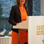 Katrin Schütz, Staatssekretärin für Wirtschaft, Arbeit und Wohnungsbau des Landes Baden-Württemberg, begleitete als Gastrednerin die Veranstaltung. Bild: BIM Cluster Baden-Württemberg e. V.