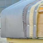 Prototyp für Dach- und Wandgestaltung.