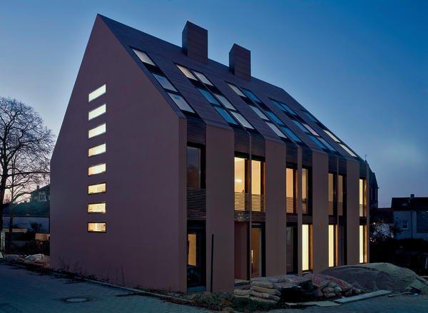 Neubau eines wohnhauses in frankfurt auf grundform reduziert - Mmz architekten ...