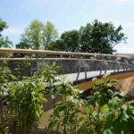 Holzbrücke mit Carbonbeton