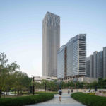 Skyscraper Qiantan Center in Shanghai, China