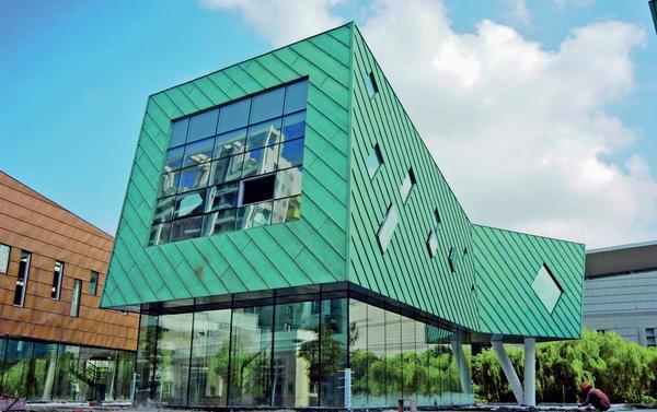Kupfer Grüne Patina metallfassaden farbe ohne beschichtung