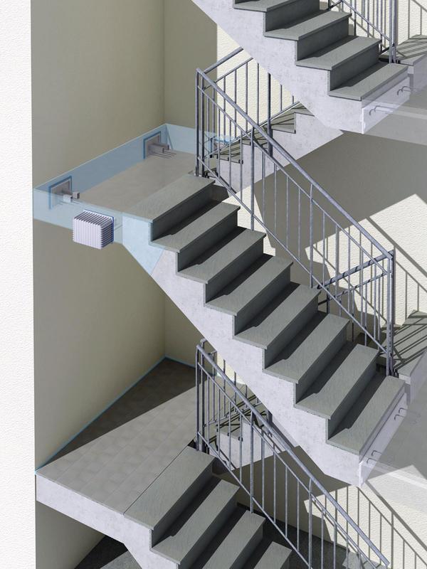 trittschallschutz im treppenhaus intelligent entkoppelt. Black Bedroom Furniture Sets. Home Design Ideas