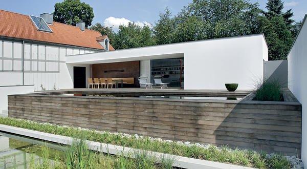 erweiterung eines wohnhauses in pilsach besonders glatt ohne streiflicht. Black Bedroom Furniture Sets. Home Design Ideas