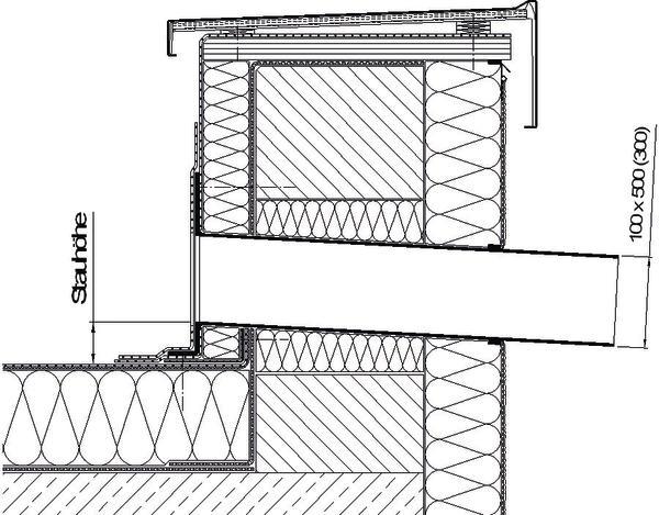 Holzbau flachdach detail  Sanierung eines Schulgebäudes exemplarisch durchgespielt ...
