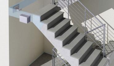 effektiver trittschallschutz im treppenhaus bba. Black Bedroom Furniture Sets. Home Design Ideas