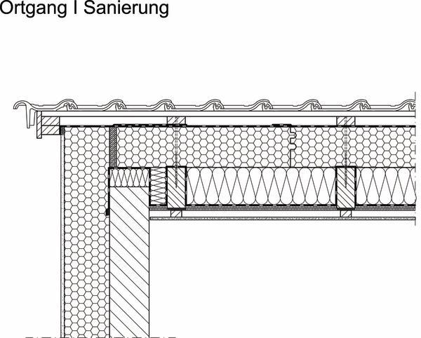 Traufdetail kein dachüberstand  Kombinierte Dämmsysteme in der Sanierung. Dampfoffen auf den Sparren