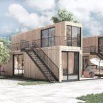Auf jeweils 25,5 qm entstehen vollständige Wohneinheiten mit privatem Außenbereich. Bild: Steffen Scheyning