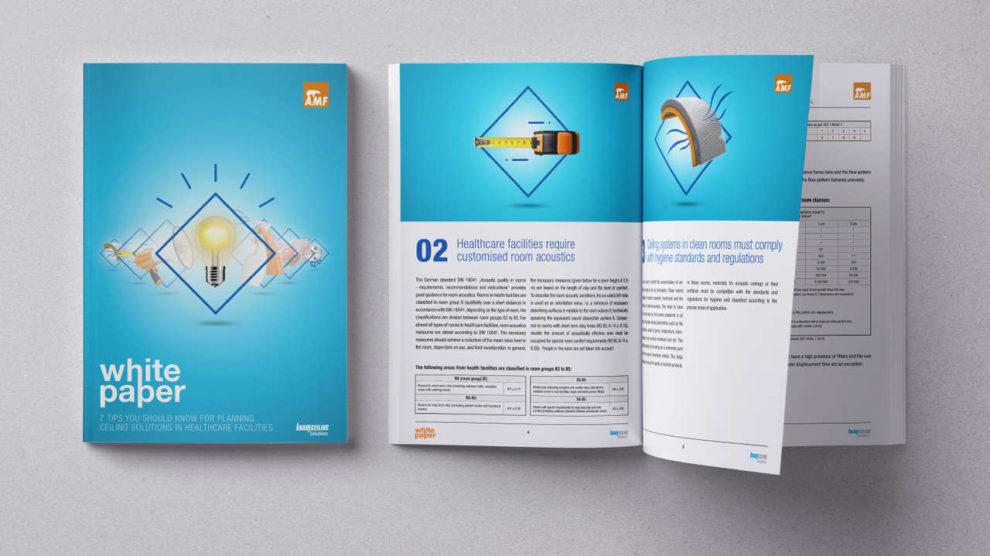 Broschüre mit Tipps zu Deckenlösungen in Gesundheitseinrichtungen
